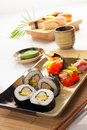 Positionnement de sushi Images libres de droits