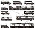 Positionnement salut-détaillé de transport public de vecteur Photo stock