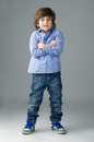 Positive beautiful kid isolated Stock Photos
