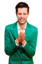 Positive emotional young man Royalty Free Stock Photos
