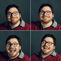 Positive emotions portrait of a man with Royalty Free Stock Images