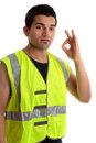 Positive handyman or builder Royalty Free Stock Photo