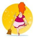 Positive housewife