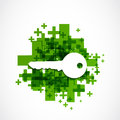 Positive key icon abstract background Royalty Free Stock Image