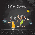 Positive kids affirmations, I am joyous Royalty Free Stock Photo