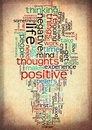 positive life word cloud vintage grunge Royalty Free Stock Photo