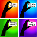 Positive messages Stock Photography