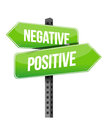Positive negative sign illustration design over a white background Stock Images