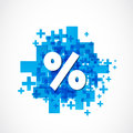Positive percent sign abstract background Royalty Free Stock Photo