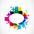 Positive speech balloon abstract colorful background Royalty Free Stock Images