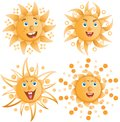 The positive sun smiles Stock Image
