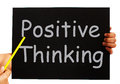 Positive thinking blackboard shows optimism showing and bright outlook Stock Photography