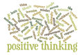 Positive thinking word cloud of words or tags related to and creative Stock Image