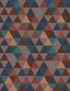 Positive triangular seamless texture in harmonious colors
