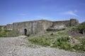 Pospelovsky battery in Vladivostok fortress. Russian island. Russia Royalty Free Stock Photo