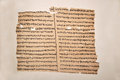 Possible forged manuscript a first century greek of the gospel of matthew published as a facsimile by constantine simonides in Royalty Free Stock Image
