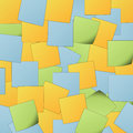 Post it background colorful abstract Stock Photos