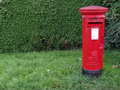 Post box in england rural Royalty Free Stock Photos