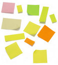 Post-it colorido (trajeto de grampeamento) Fotografia de Stock Royalty Free
