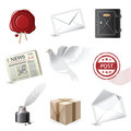 Post icons Royalty Free Stock Photography