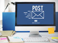 Post Mail Correspondence Online Message Communication Concept Royalty Free Stock Photo