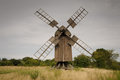 Post mill dutch windmill placed in bornholm denmark was build in Royalty Free Stock Photography