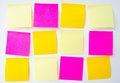 Post it note, short note, Note Take Note. In a reminder A major Royalty Free Stock Photo
