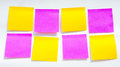 The Post it note, short note, Note Take Note. In a reminder A major Royalty Free Stock Photo