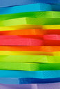 Post it notes background stack of rainbow colored stickers closeup as Royalty Free Stock Images