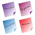 Post it Notes messages color paper white background
