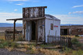 The post office is closed u s in cisco utah cisco a steam railroad ghost town town failed when steam locomotion was discontinued Royalty Free Stock Images