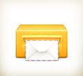 Post office icon illustration on white background Stock Image