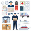 Post Office Set Royalty Free Stock Photo