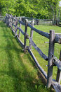 Post and rail fence blue ridge parkway virginia usa floyd county may a display at groundhog mountain picnic area on the on may Royalty Free Stock Photo