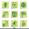 Post it series - ecology Royalty Free Stock Images