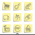Post it series - internet shopping Royalty Free Stock Image