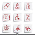 Post it series - medical Stock Photography