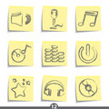 Post it series - music Royalty Free Stock Image