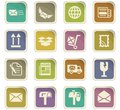 post service icon set Royalty Free Stock Photo