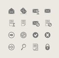 Post. set of simple icons Royalty Free Stock Photography