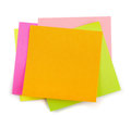Post it stack of colorful sticky notes isolated on white Stock Photography