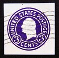 Postage stamp United States of America, USA 1916. Pre-paid 3 cents President George Washington Royalty Free Stock Photo