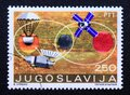 Post stamp printed in Yugoslavia Space Exploration, 1971 Royalty Free Stock Photo