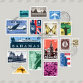 Post stamps set of from around the world Royalty Free Stock Photography