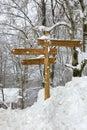 Post at urkiola wooden nature park Stock Image