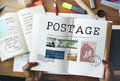 Postage Letter Parcel Stamp Mail Graphic Concept Royalty Free Stock Photo