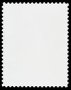 Postage stamp blank white on black Royalty Free Stock Images