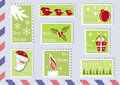 Postage stamp Christmas collections. Stock Photo