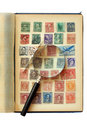 Postage Stamp Collection Royalty Free Stock Image