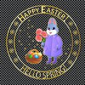 Easter post stamp-05 Royalty Free Stock Photo
